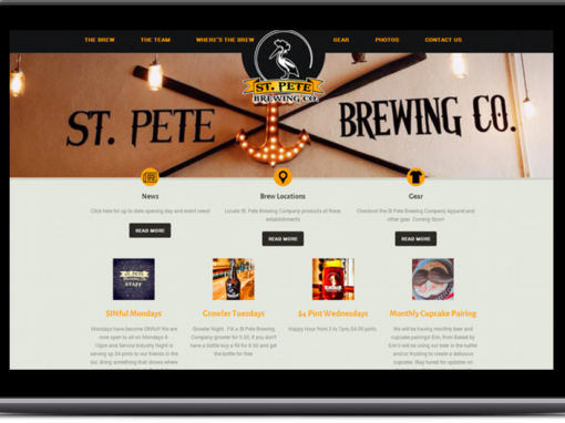 St. Pete Brewery – Web Design