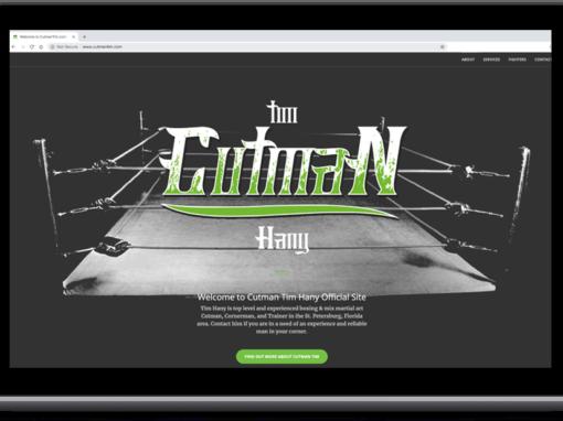 Cutman Tim Hany – Web Design