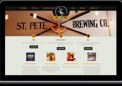 St. Pete Brewery – Web Design