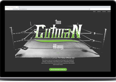 Cutman Tim Hany – Web Design