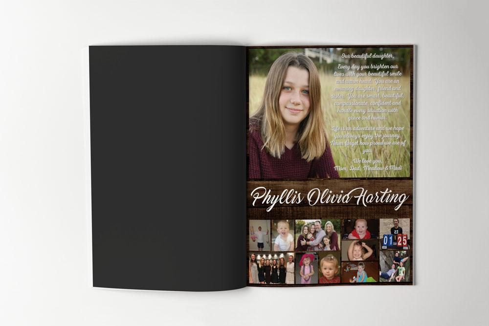 Senior Yearbook Ad – Print Design