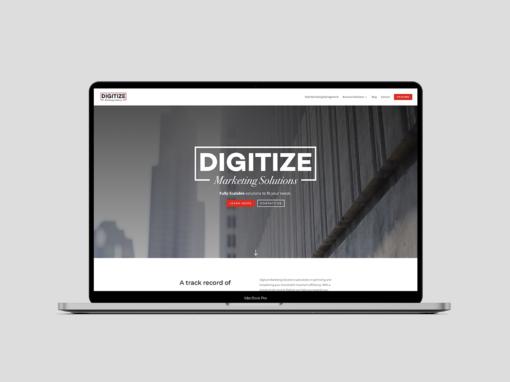 Digitize Marketing Solutions – Web Design